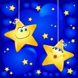 Estrelas no amor ilustração do vetor