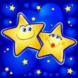 Estrelas no amor ilustração stock