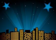 Estrelas no céu ilustração do vetor