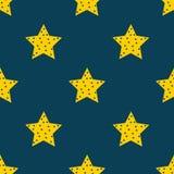Estrelas no céu Fundo sem emenda do teste padrão de estrela Foto de Stock Royalty Free