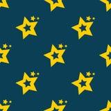 Estrelas no céu Fundo sem emenda do teste padrão de estrela Imagens de Stock