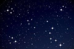 Estrelas no céu nocturno Fotografia de Stock Royalty Free
