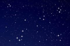 Estrelas no céu nocturno Fotos de Stock Royalty Free