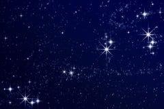 Estrelas no céu nocturno Fotografia de Stock