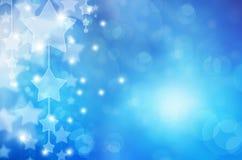 Estrelas no fundo azul. Copie o espaço Fotos de Stock Royalty Free