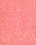 Estrelas no fundo cor-de-rosa Foto de Stock Royalty Free