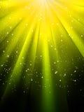 Estrelas no fundo listrado amarelo. EPS 8 Imagens de Stock