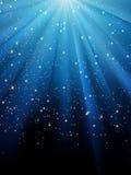 Estrelas no fundo listrado azul. EPS 8 Imagens de Stock Royalty Free