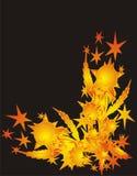Estrelas no fundo preto ilustração royalty free