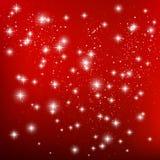 Estrelas no fundo vermelho Imagem de Stock Royalty Free