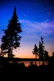 Estrelas no por do sol, Tom Thomson Lake Foto de Stock Royalty Free