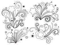 Estrelas ornamentado Imagem de Stock Royalty Free