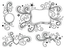 Estrelas ornamentado ilustração royalty free