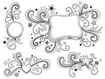 Estrelas ornamentado Imagens de Stock Royalty Free