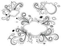 Estrelas ornamentado Imagem de Stock
