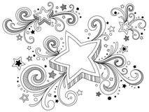 Estrelas ornamentado Imagens de Stock