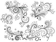 Estrelas ornamentado ilustração stock