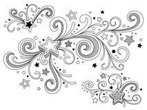 Estrelas ornamentado Fotos de Stock
