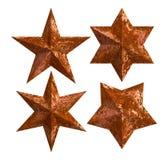 Estrelas oxidadas isoladas Imagens de Stock