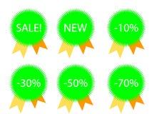 Estrelas para preços de disconto Ilustração Stock