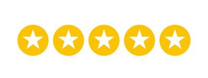 Estrelas que avaliam para apps e Web site ilustração royalty free