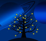 Estrelas que crescem em uma árvore Fotografia de Stock Royalty Free