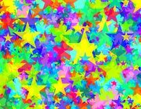 Estrelas transparentes vívidas ilustração stock