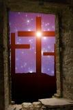 Estrelas transversais da Páscoa Fotos de Stock Royalty Free