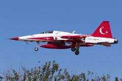 Estrelas turcas: Equipe Aerobatic da força aérea turca Imagem de Stock