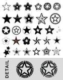 Estrelas Vectored Imagens de Stock