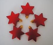 Estrelas vermelhas Imagem de Stock
