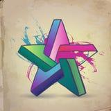 Estrella abstracta Imágenes de archivo libres de regalías