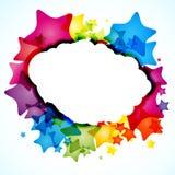 Estrella abstracta del arco iris. Tarjeta cuadrada. stock de ilustración