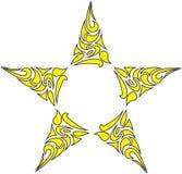 Estrella acentuada cinco fotos de archivo libres de regalías