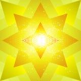 Estrella amarilla Foto de archivo libre de regalías