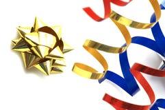 Estrella amarilla del bobinador de cintas en modo continuo Fotos de archivo libres de regalías