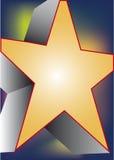 Estrella amarilla grande Fotografía de archivo libre de regalías
