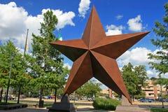 Estrella artificial adornada en la ciudad de Austin fotos de archivo libres de regalías