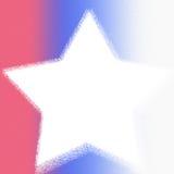 Estrella azul blanca roja Foto de archivo libre de regalías
