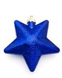 Estrella azul de la Navidad Imagen de archivo