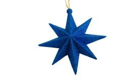 Estrella azul de la Navidad Fotos de archivo