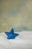 Estrella azul de la Navidad Fotografía de archivo libre de regalías