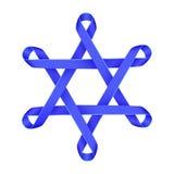 Estrella azul de Magen David Israel stock de ilustración
