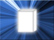 Estrella azul del rectángulo blanco Imagenes de archivo