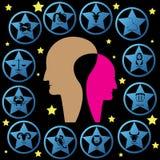 Estrella azul del zodiaco Imagen de archivo libre de regalías