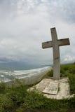 Estrella blanca cruzada grande de la iglesia Ecuador del mar Imagenes de archivo