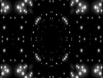 Estrella blanco y negro de la abstracción almacen de video