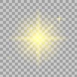 Estrella brillante Brillo transparente stock de ilustración