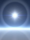 Estrella brillante con los anillos ilustración del vector