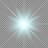 Estrella brillante en fondo transparente Imagen de archivo libre de regalías
